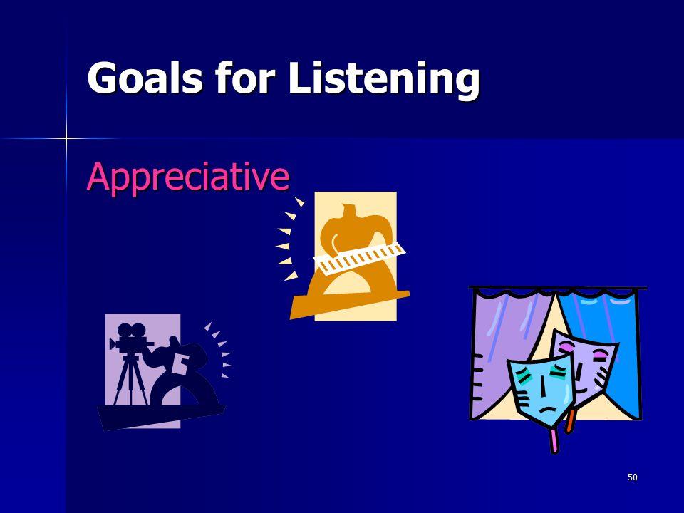 50 Goals for Listening Appreciative