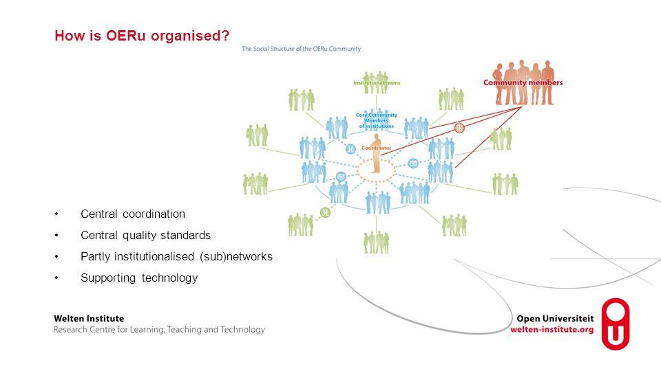 How is OERu organised.
