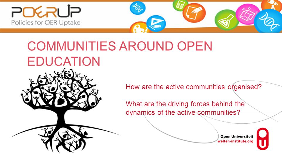 How are the active communities organised.