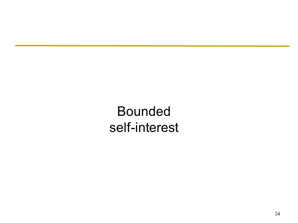34 Bounded self-interest