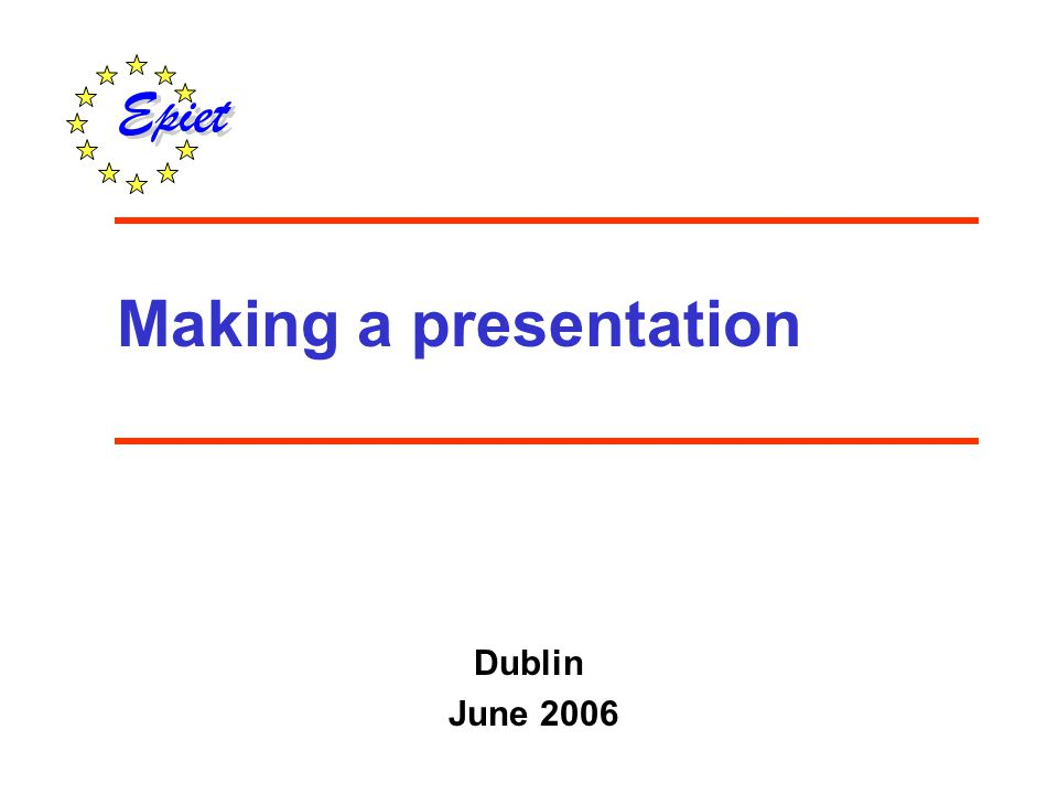 To improve skills and confidence in giving an oral scientific presentation Objective