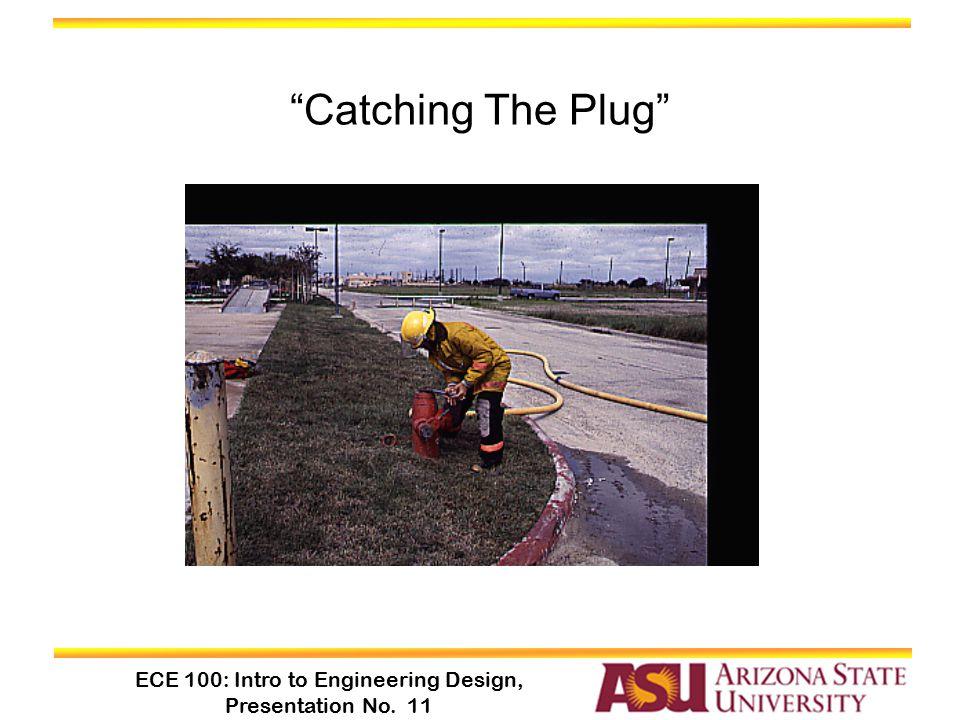 "ECE 100: Intro to Engineering Design, Presentation No. 11 ""Catching The Plug"""