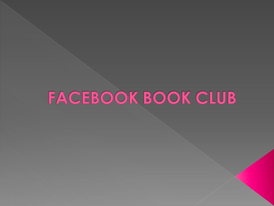 Facebook Book Club -Created a Facebook page just for the group and invited teens -Had laptops available for teens that attended at the Library -Used the Group Chat feature on the group page -Picked one book a month to discuss
