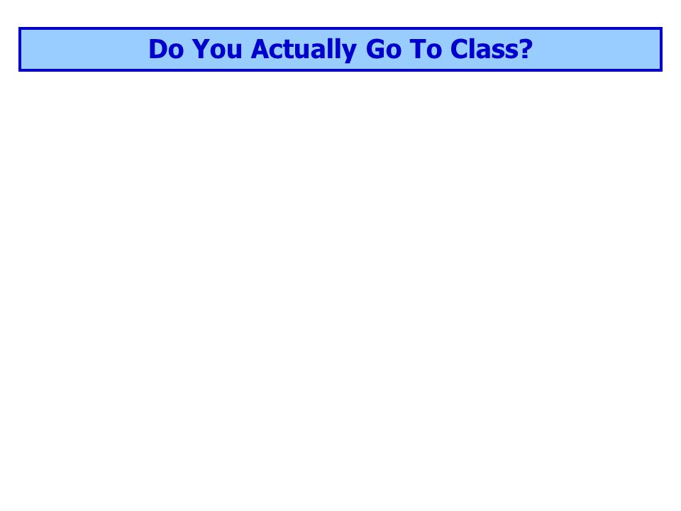 Do You Actually Go To Class?