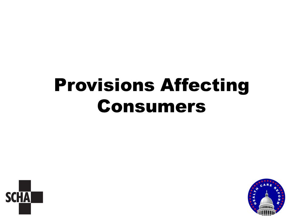 Provisions Affecting Consumers