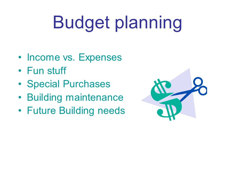 Budget planning Income vs.