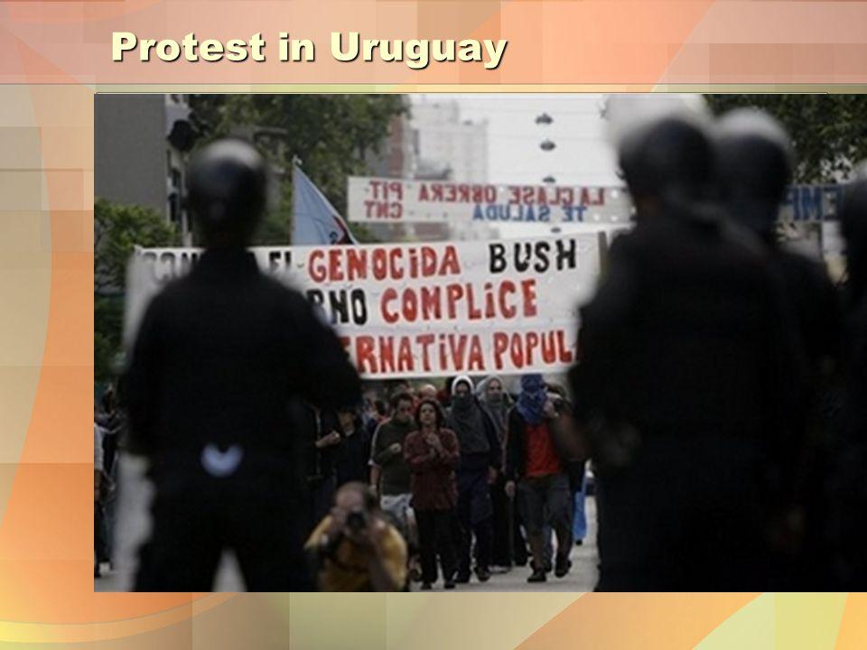 Protest in Uruguay