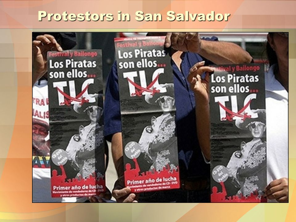Protestors in San Salvador