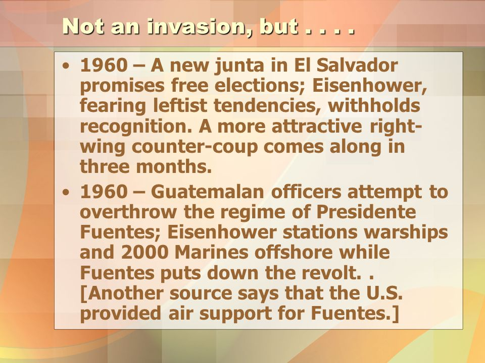Not an invasion, but....