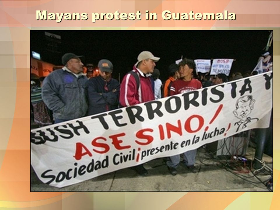 Mayans protest in Guatemala
