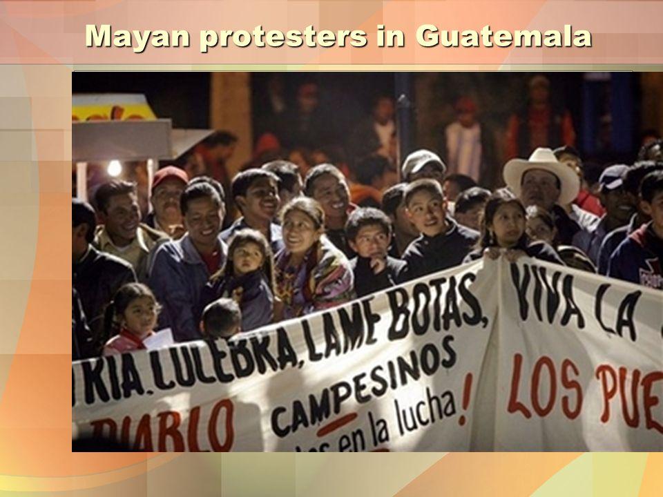 Mayan protesters in Guatemala