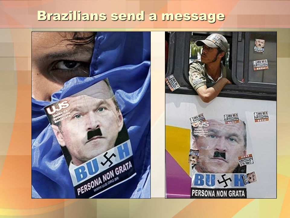 Brazilians send a message