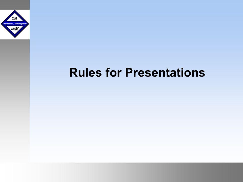 September1999 October 1999 Paper Summary Presentations