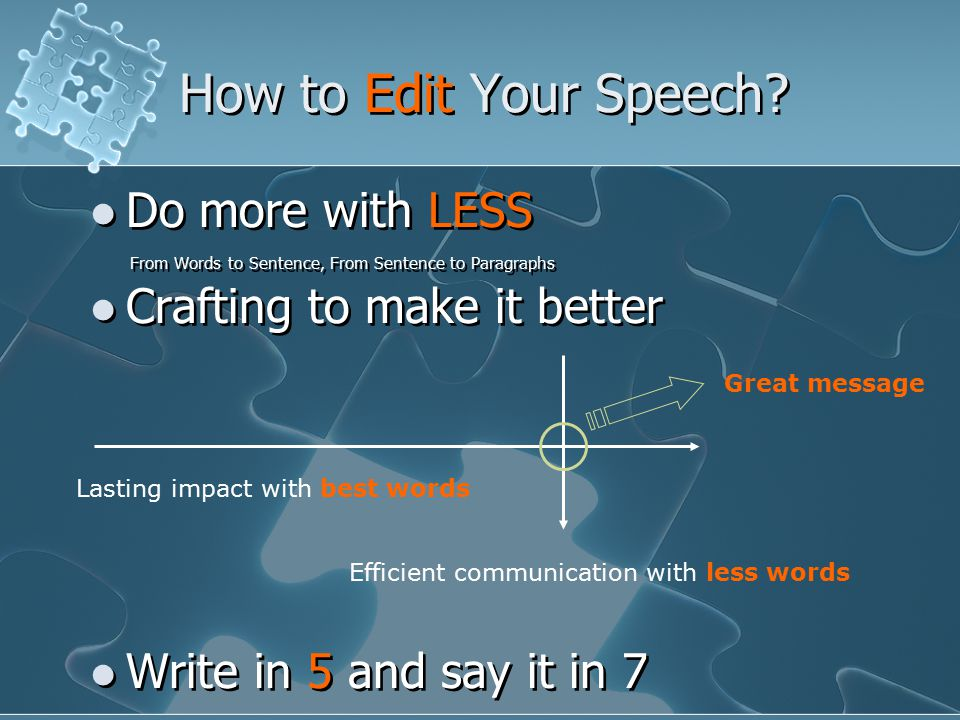 How to Edit Your Speech.