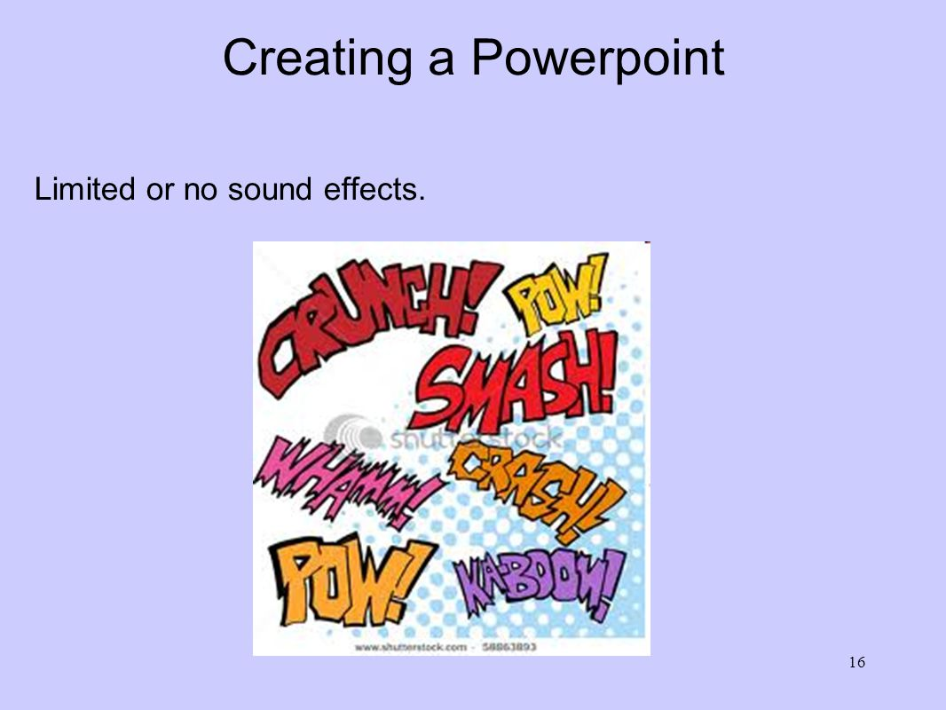Creating a Powerpoint Limited, or better yet, no animations WOW Sensory Overload What is going on here.