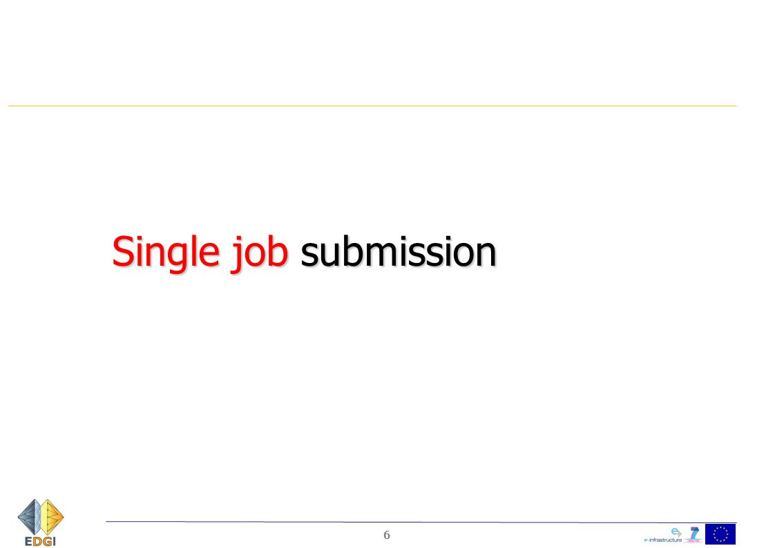 Single job submission 6