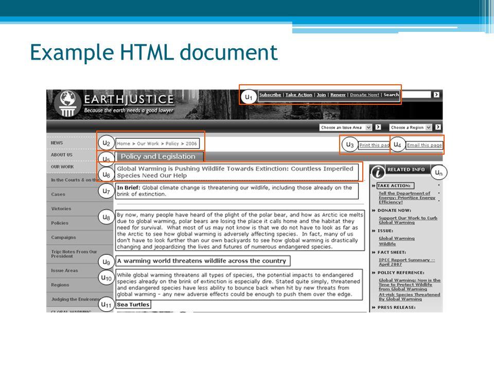 Example HTML document