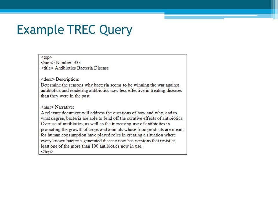 Example TREC Query