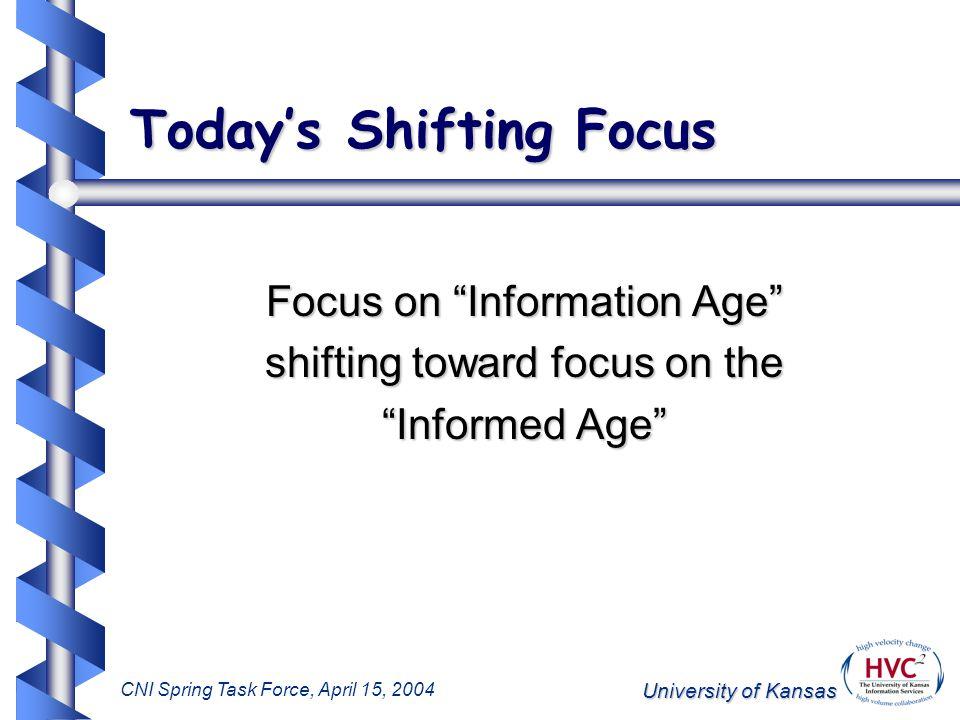 University of Kansas CNI Spring Task Force, April 15, 2004 Addressing Scholarly Information KU Scholarworks