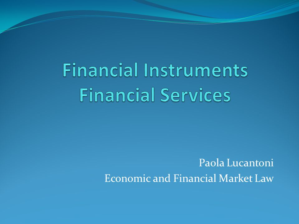 Paola Lucantoni Economic and Financial Market Law