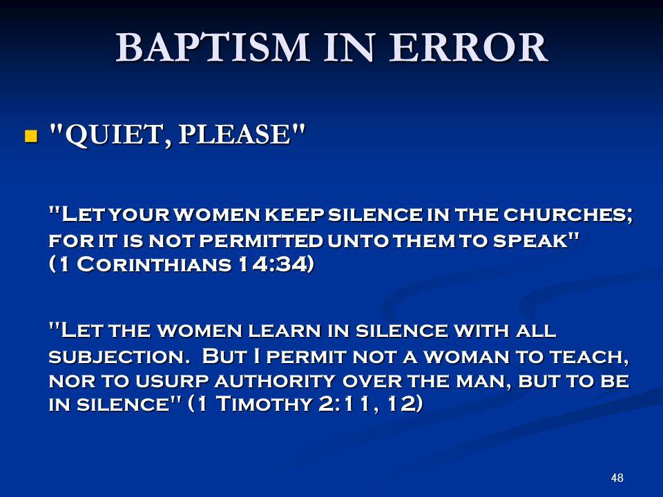48 BAPTISM IN ERROR