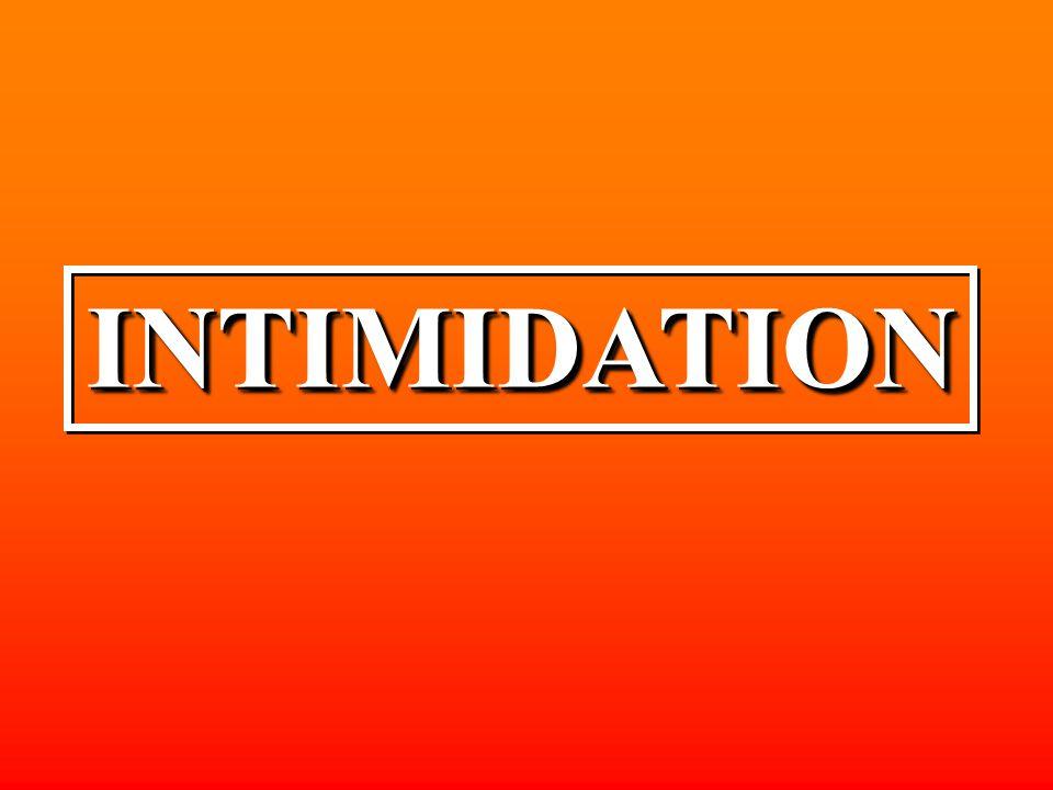 INTIMIDATIONINTIMIDATION
