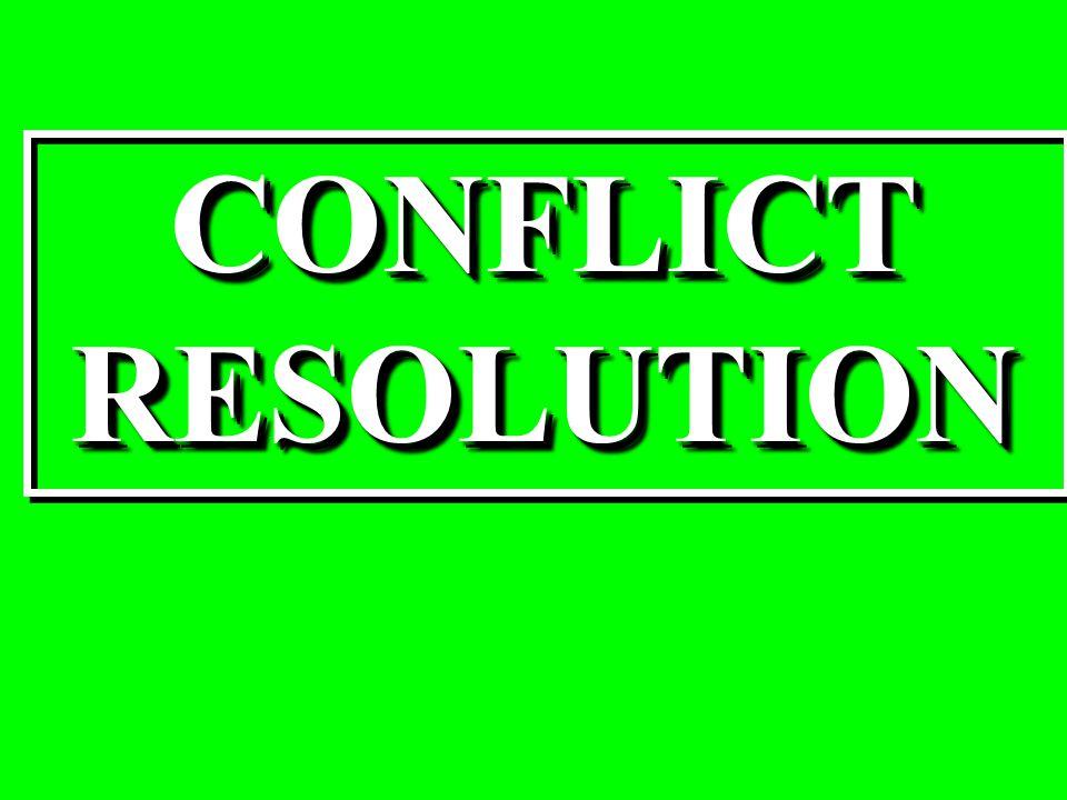 CONFLICTRESOLUTIONCONFLICTRESOLUTION
