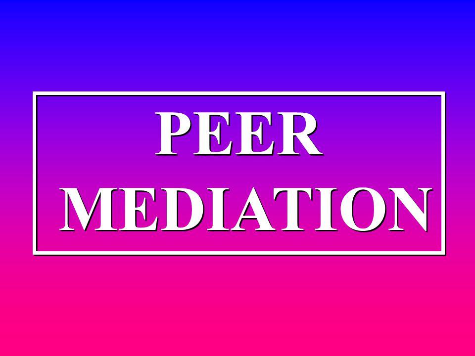 PEER MEDIATION PEER MEDIATION