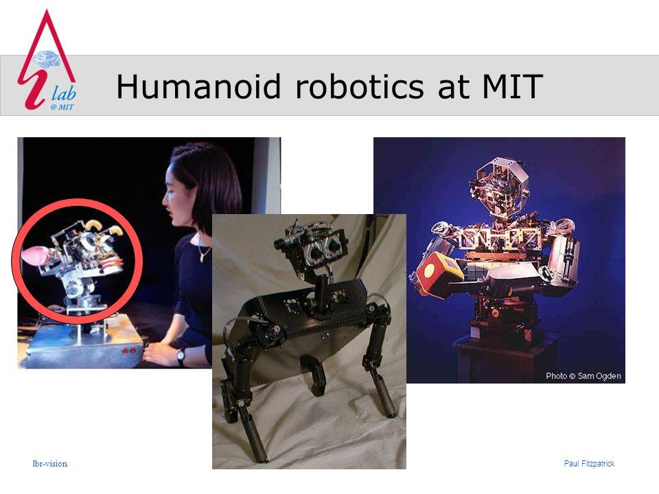 Paul Fitzpatrick lbr-vision Humanoid robotics at MIT