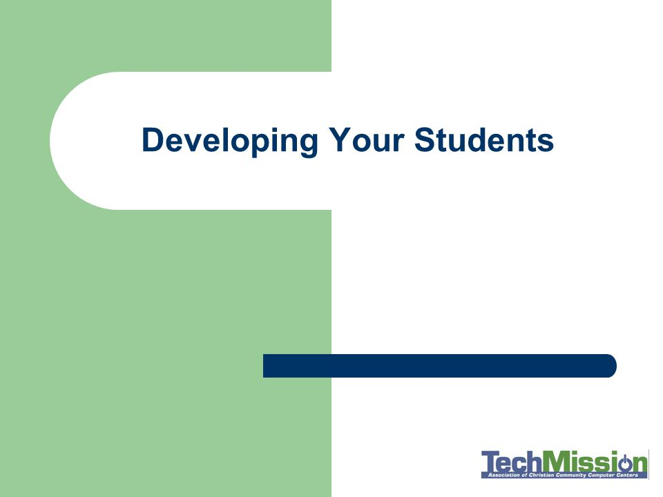 Developing Your Students
