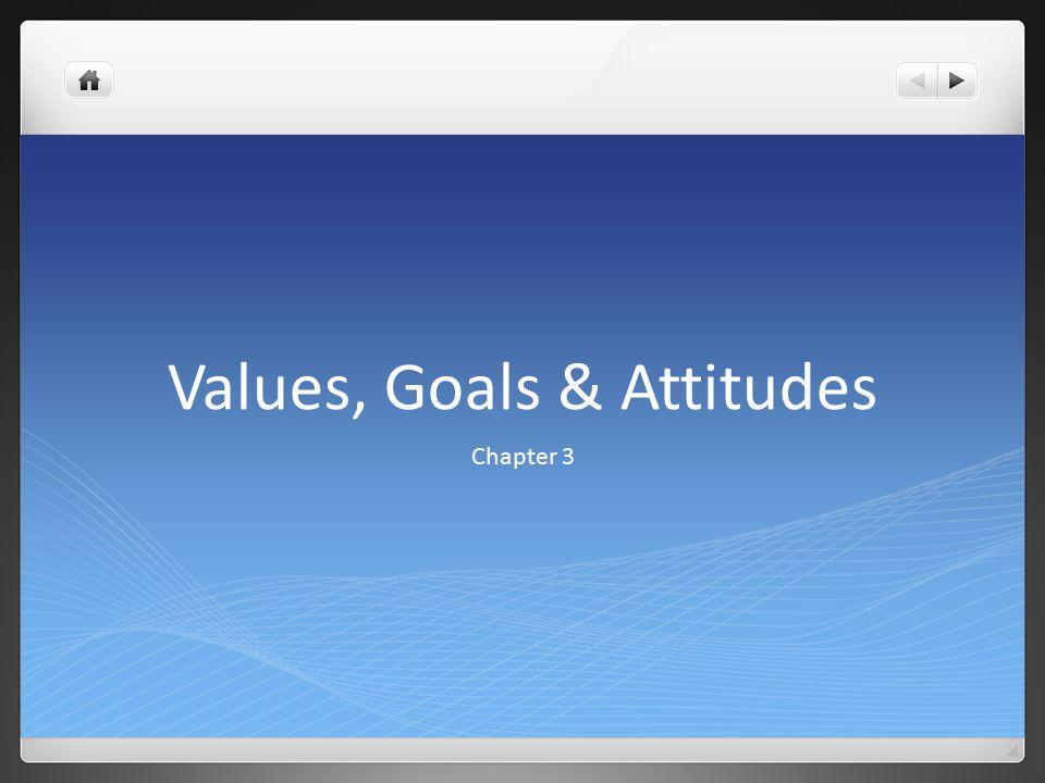 Values, Goals & Attitudes Chapter 3
