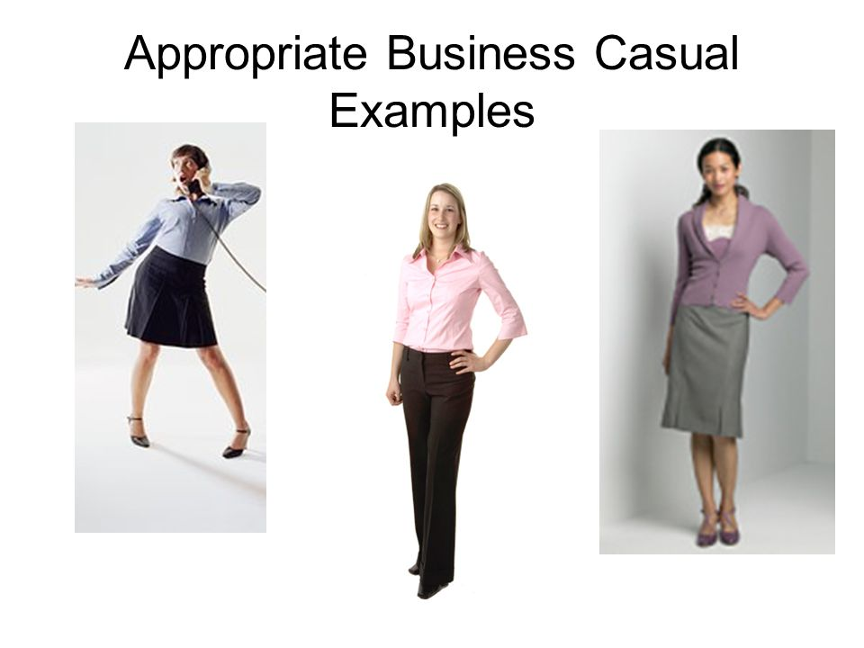 Dressing Business Casual For Women If you do not currently own a suit, then you do need to attend the job fair in business casual attire.