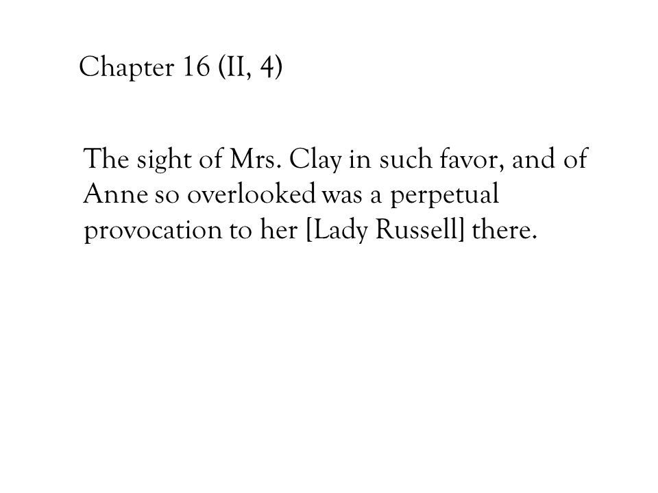 Chapter 16 (II, 4) The sight of Mrs.
