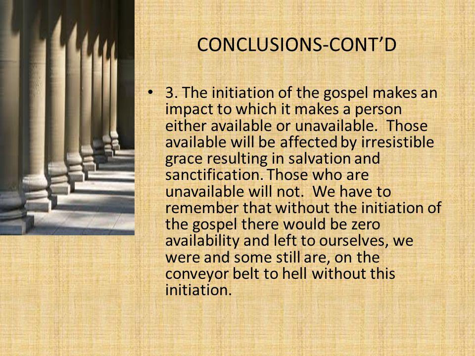 CONCLUSIONS-CONT'D 3.