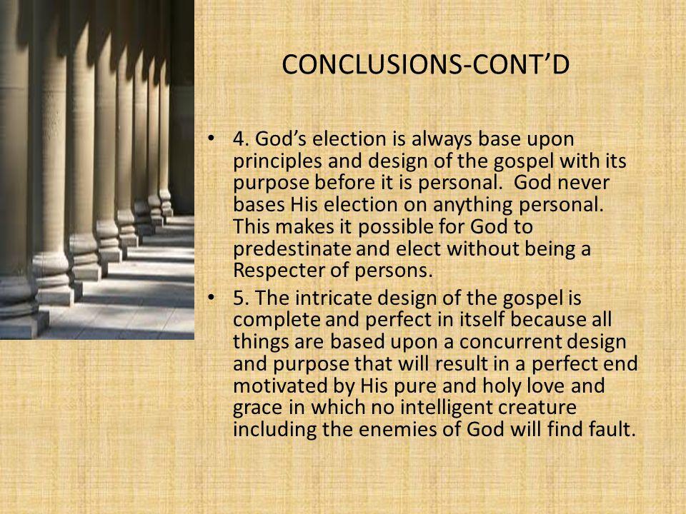 CONCLUSIONS-CONT'D 4.