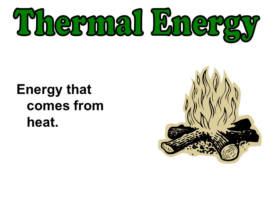 Energy that comes from heat.