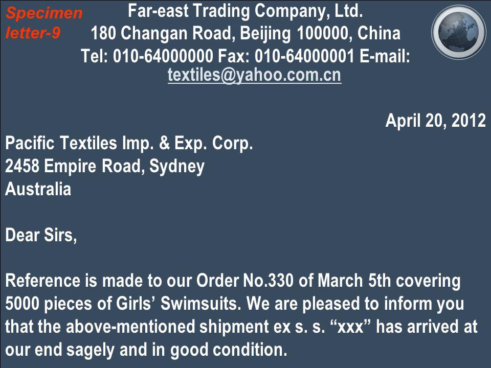 Far-east Trading Company, Ltd.