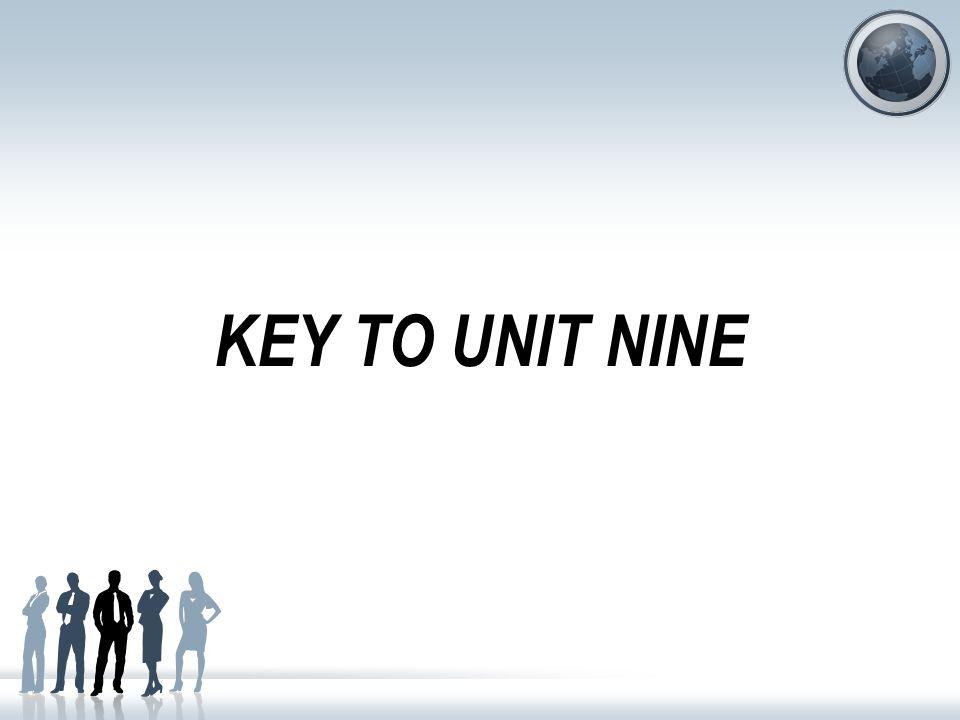 KEY TO UNIT NINE