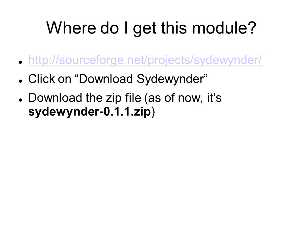 Where do I get this module.