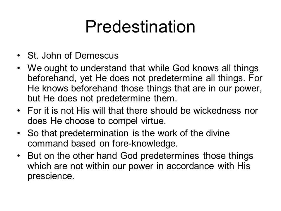 Predestination St.