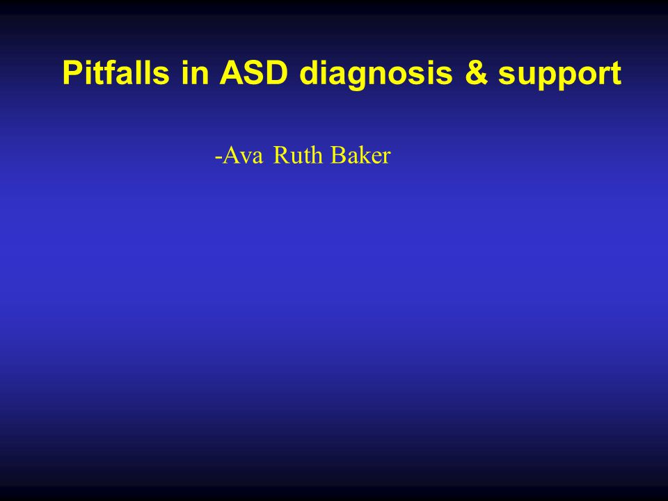 Problems with diagnostic systems There were many more children who did not fit Kanner's or Asperger's criteria but who had all kinds of mixtures of features of these 'syndromes' … The concept of a spectrum of autistic disorders fitted the findings better than the categorical approach.