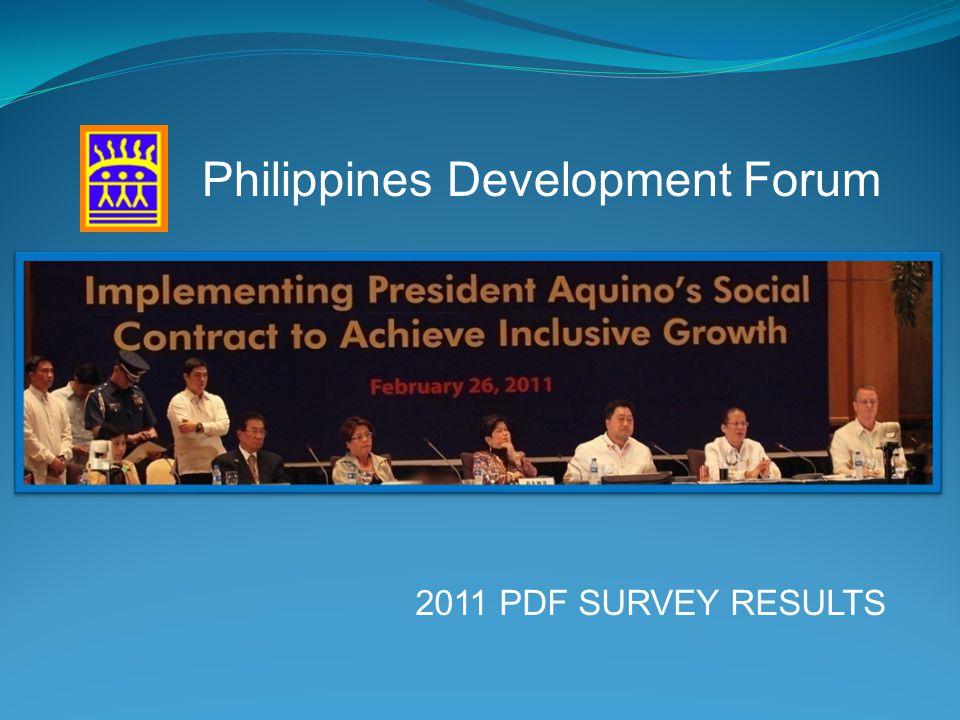 2011 PDF SURVEY RESULTS Philippines Development Forum
