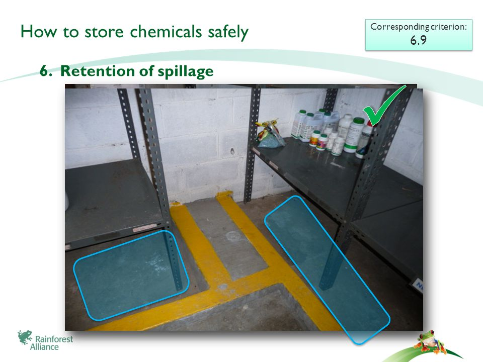 How to store chemicals safely 6.