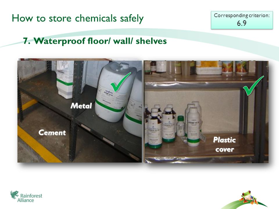 How to store chemicals safely 7.