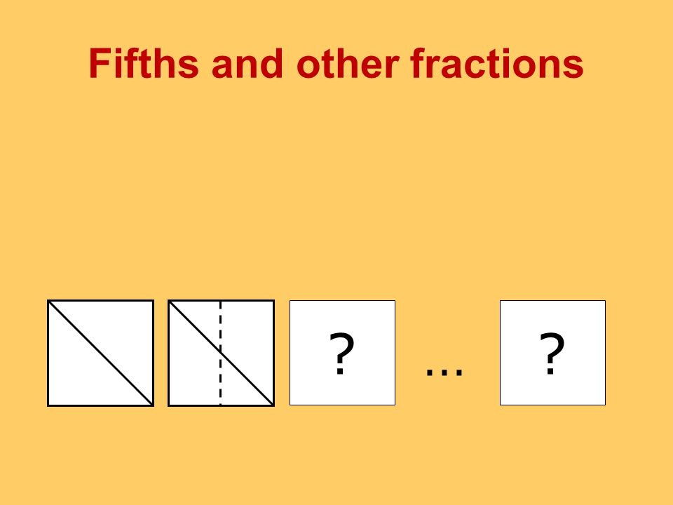 Fifths and other fractions ??...