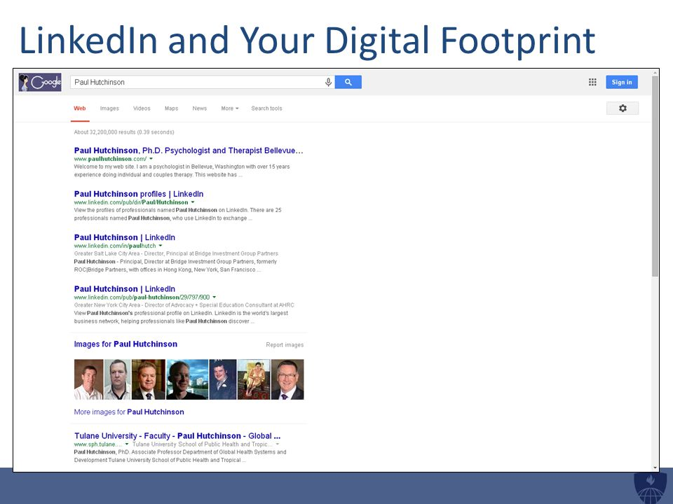 LinkedIn and Your Digital Footprint