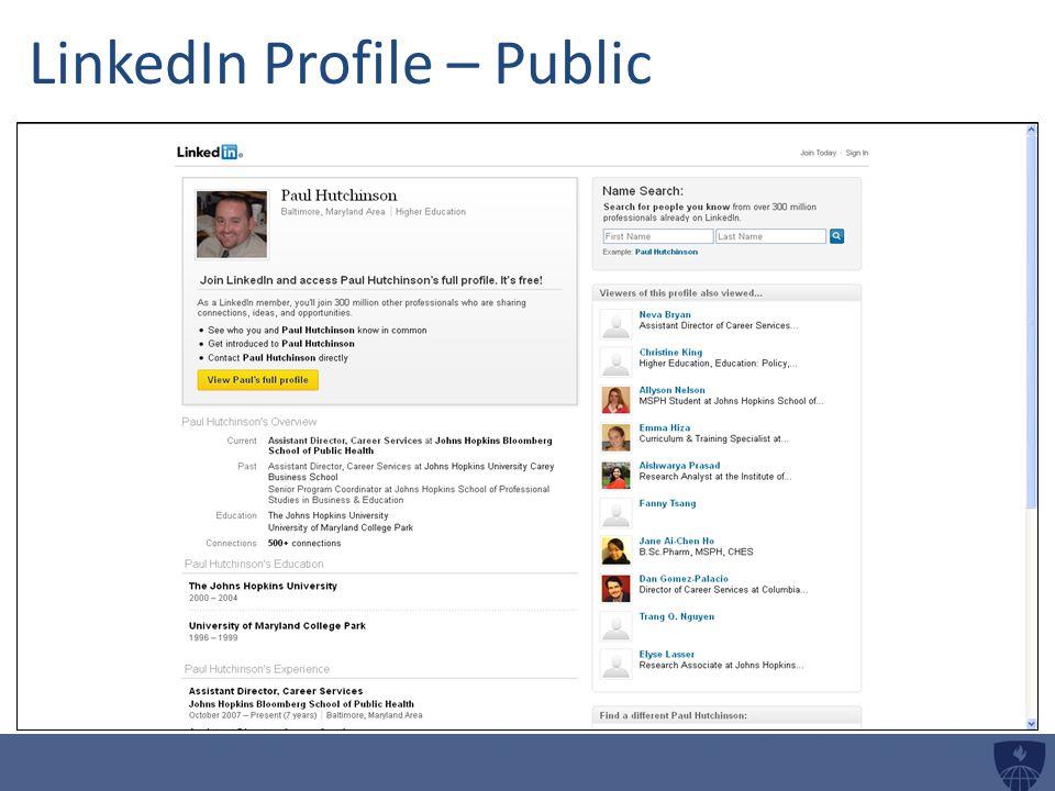 LinkedIn Profile – Public