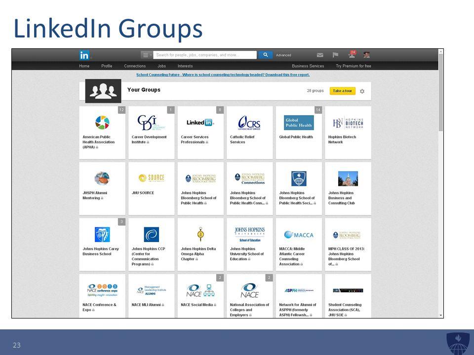 LinkedIn Groups 23