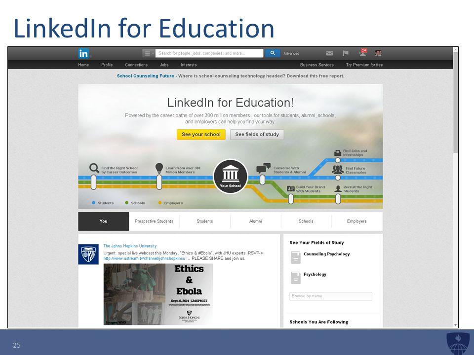 LinkedIn for Education 25