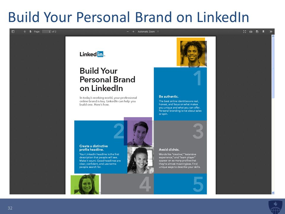 Build Your Personal Brand on LinkedIn 32